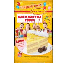 Крем бисквитена торта с цитрусов аромат